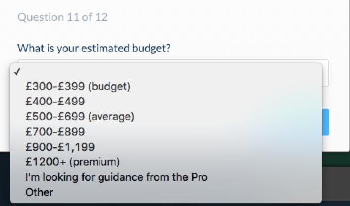 budget estimator bark blog