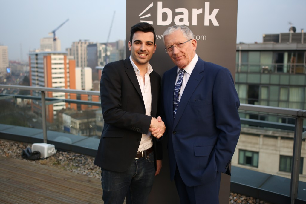 Kai Feller and Nick Hewer shake hands