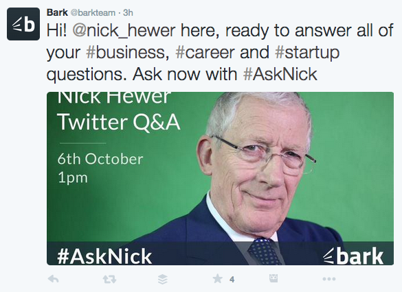 Nick Hewer Opening Q&A