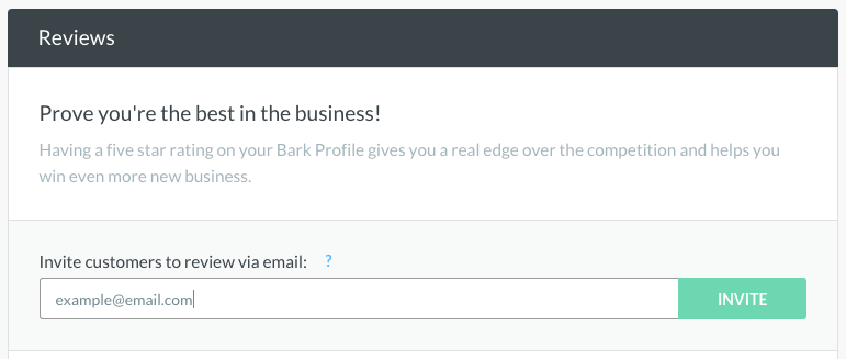 Simply enter your customer's email and click send
